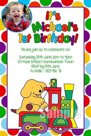 Spot the Dog birthday party invites