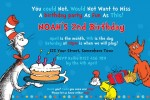 Dr Seuss Cat in the hat birthday invitation 5