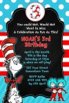 Dr Seuss Cat in the hat invitation 2