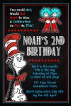 Dr Seuss Cat in the hat invitation 3