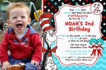 Dr Suess Cat in the hat invitation 4 with photo