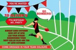 AFL 3 BOMBERS no photo personalised invitation