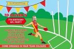 AFL 3 SUNS personalised invitations