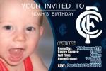 Carlton AFL personalised invitation
