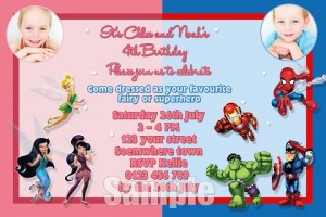 Fairy and super hero 1 with photo