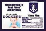 Fremantle Dockers AFL personalised invitations