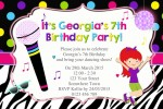 Girls Disco personalised invitations