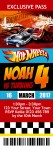 Hot Wheels Ticket Invite 1