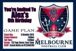 Melbourne AFL personalised invitation