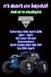 Monster Jam personalised invitation