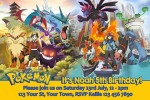 Pokemon personalised invitations