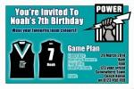 Port Power AFL personalised invitation