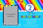 Rainbow Boy personalised invitations