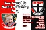 St Kilda AFL personalised invitation