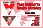 Swans AFL personalised invitation