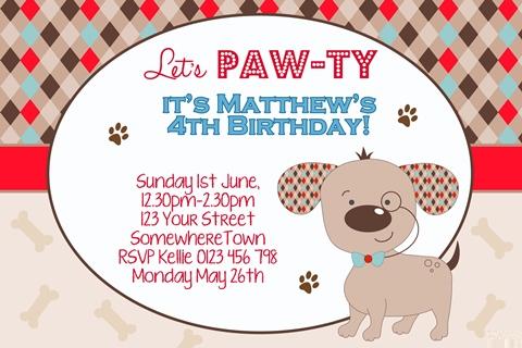 cute puppy smart dog invitations