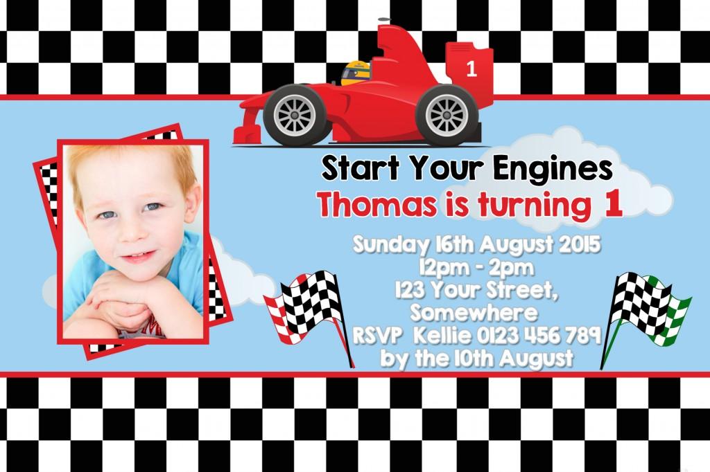 Racing Car formula one birthday party