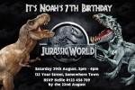 jurassic world invite invitation