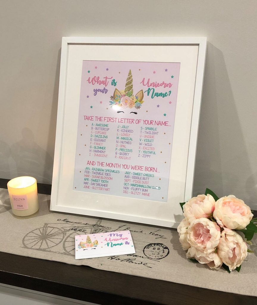 Personalised Unicorn Birthday Sign