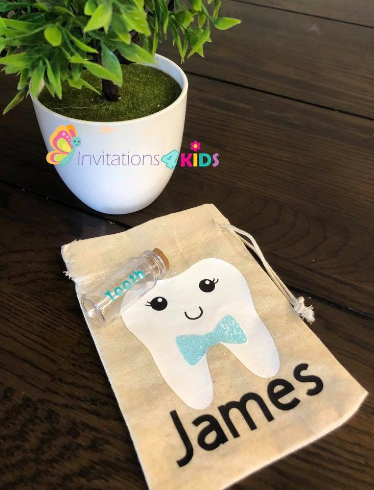Personalised Tooth Fairy Bag and Bottle