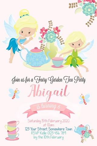 fairy tea party invitation