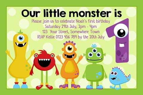 monster birthday invite