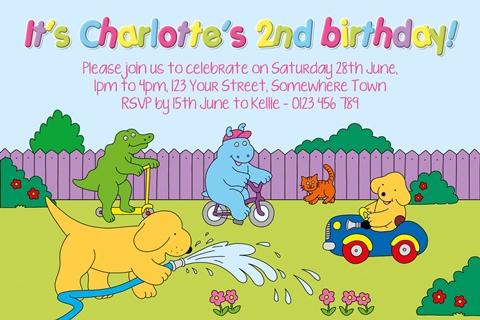 spot the dog eric hill birthday invitation